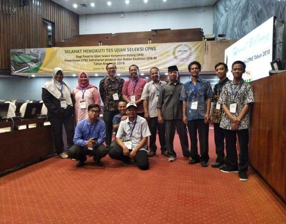 PT Era Kualitas Informasi menjadi salah satu dari Tim IT Support untuk kegiatan Penerimaan CPNS Sekretariat Jendral dan Badan Keahlian DPR RI Tahun 2018